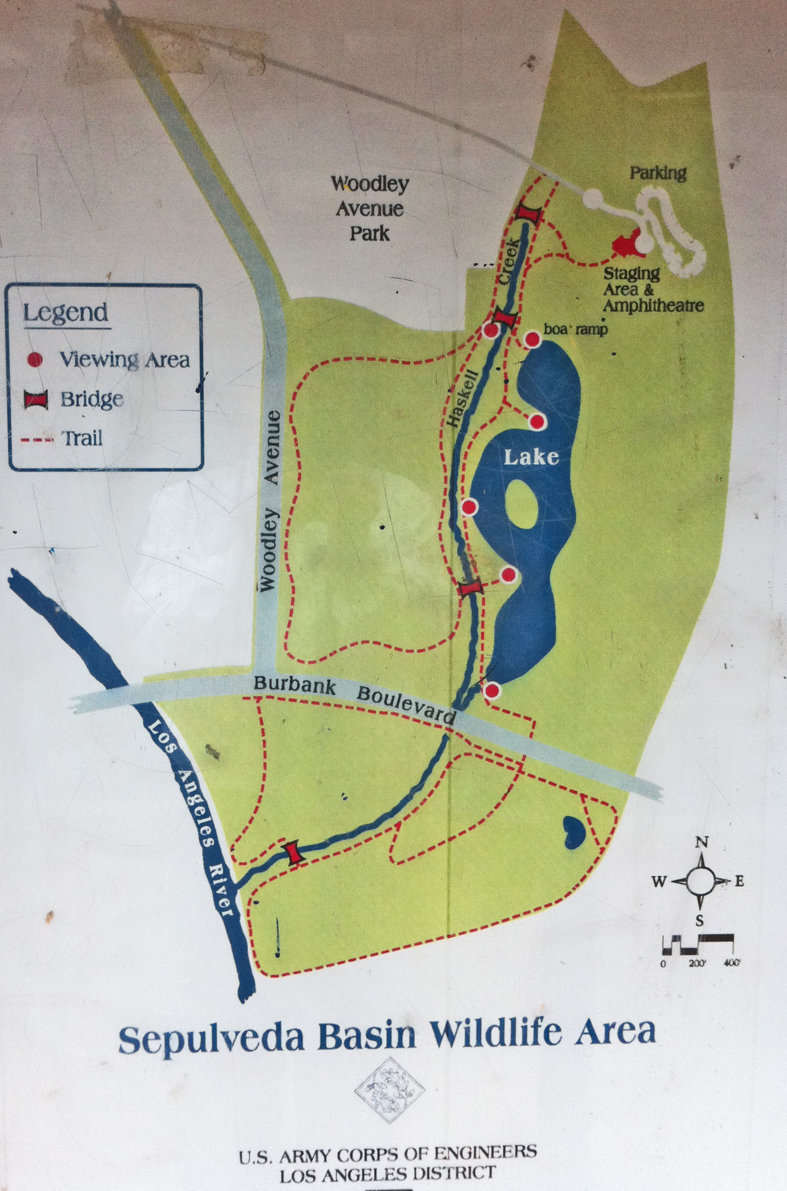 SepulvedaBasinWildlife.org California Mission Trail Map on